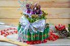 """Новогодний торт из конфет """"Сюрприз"""""""