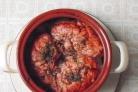 Запеченные телячьи мозги с овощами