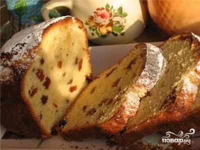 Кекс в хлебопечке с изюмом