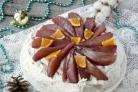 Десерт Анна Павлова с пряными грушами
