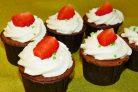 Шоколадные капкейки с шоколадной начинкой