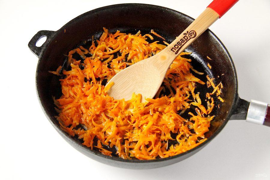 Салат из свинины и моркови