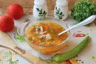 Томатный суп с фасолью и курицей