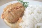 Курица в горшочке с паприкой и сливками