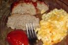 Мясной рулет и макароны с сыром