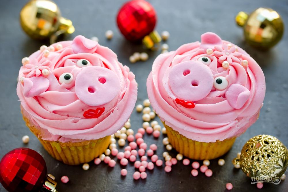 Куксы на год Свиньи, новогодний десерт