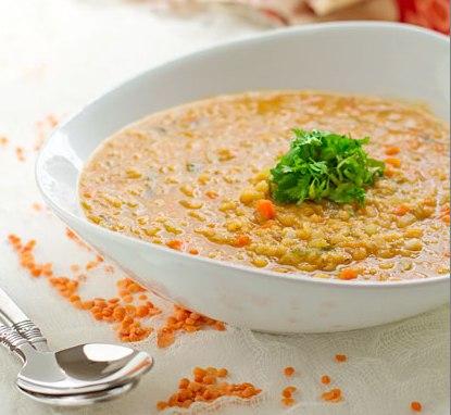 Густой суп из чечевицы