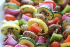 Овощной шашлык на мангале