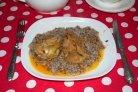 Мясо под сметанным соусом