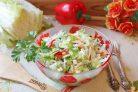 Постный салат из пекинской капусты