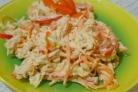 Салат с грудкой и корейской морковкой