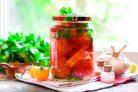 Помидоры соленые с болгарским перцем