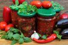 Баклажаны с красным перцем и чесноком на зиму