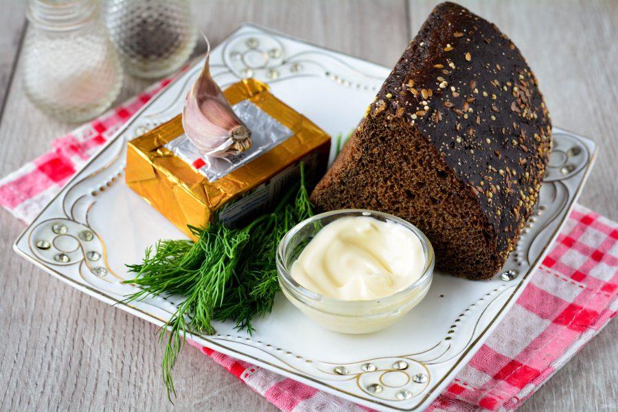 Ингредиенты для закуски с плавленым сыром