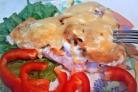Семга с овощами в фольге