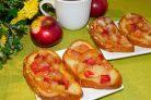 Французские гренки с яблоками