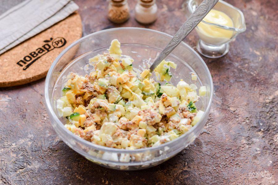 Салат из сайры