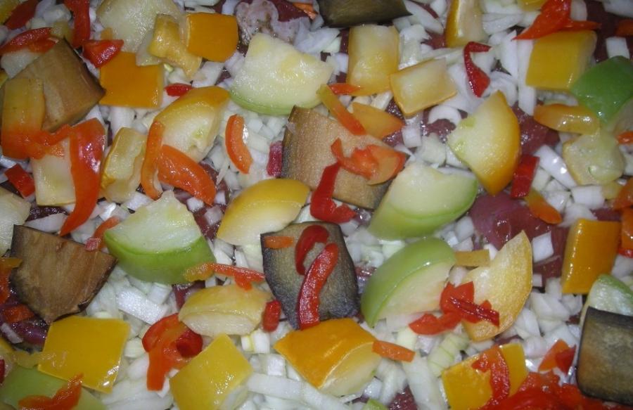 Рагу с говядиной и овощами
