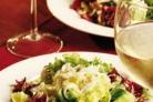 Зимний салат со свежей зеленью