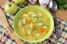 Гороховый суп с яблоками