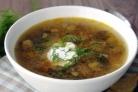 Суп из свежих подосиновиков
