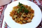 Потушить овощи с грибами