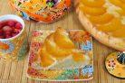 Пирог с персиками Перевертыш