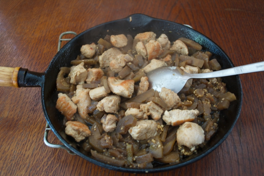 Рагу из баклажан с мясом