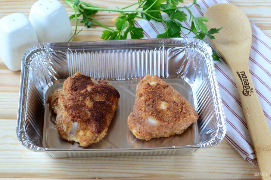 Куриная грудка с начинкой из сыра