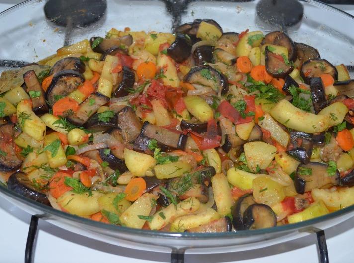 соте овощное из баклажанов профессиональный рецепт