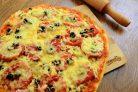 Тонкая пицца на дрожжевом тесте