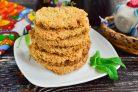 Овсяное песочное печенье
