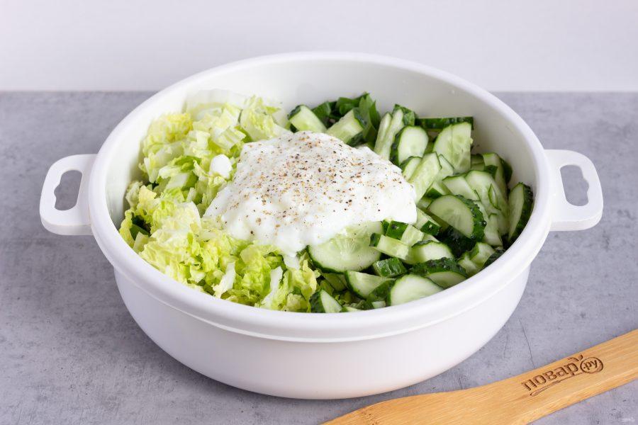 Приготовление зеленого салата