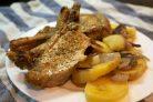Картошка с ребрышками в духовке