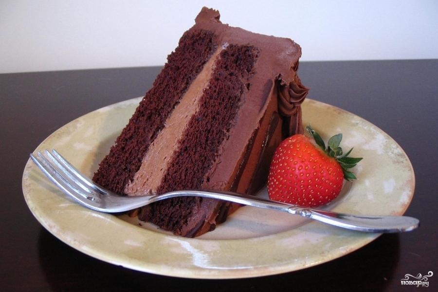 Рецепт Шоколадный торт с муссом II