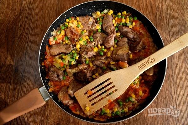 Курица с рисом и овощами по-каталонски