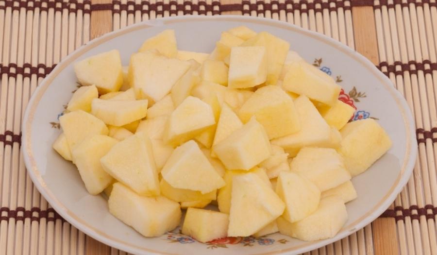 Запеченная тыква с яблоками