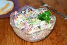 """Салат """"Венеция"""" с колбасой и корейской морковью"""