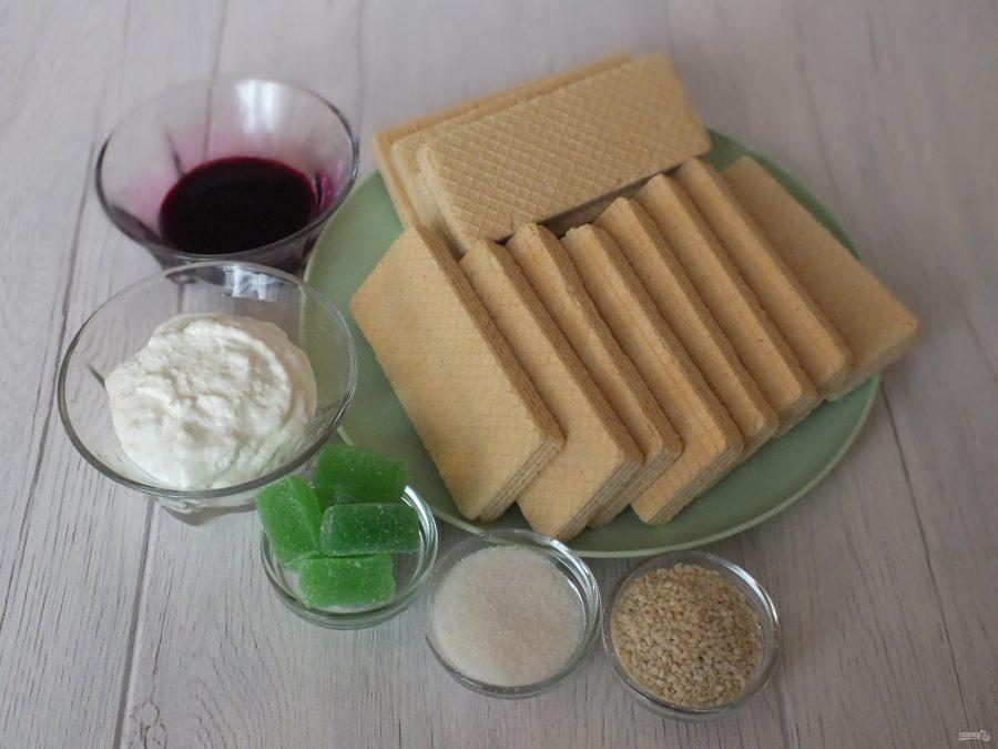 Ингредиенты для клубнички из вафель