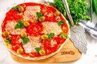 Пицца из лаваша в микроволновке