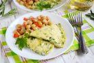 Омлет со шпинатом за 10 минут