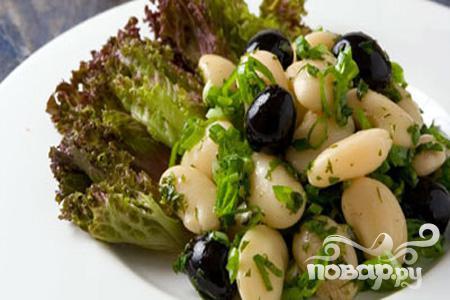 рецепт салата из белой фасоли фото