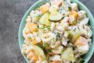 Паста-салат с солёными огурцами