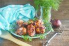 Куриные крылышки в остром томатно-яблочном маринаде