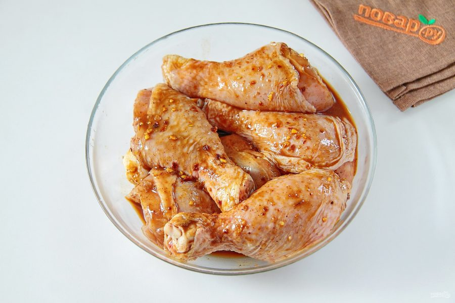 Курица под морковью (в мультиварке)