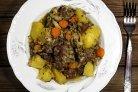 Тушеное сердце с картошкой