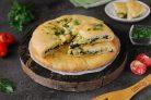 Осетинский пирог с мангольдом