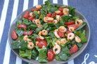 Салат со шпинатом и креветками