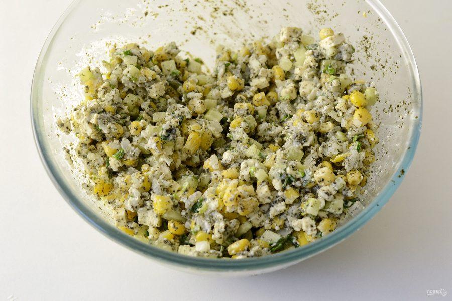 Вегетарианский крабовый салат
