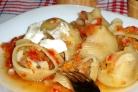 Говядина с кабачками и помидорами
